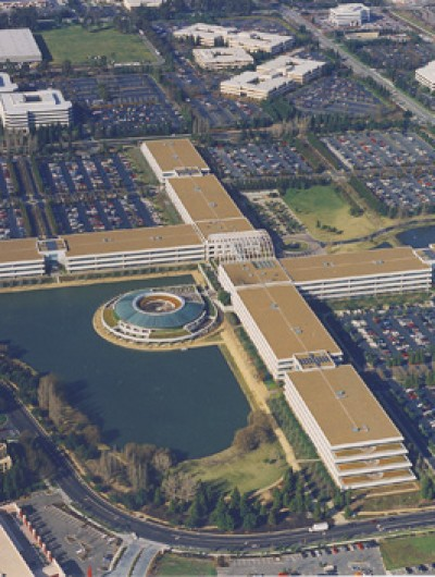 AT&T (Formerly) PAC BELL HEADQUARTERS, San Ramon - 500,000 sq ft: Modified Bitumen Liquid Membrane System, American Hydrotech & Dow Chemical Insulation