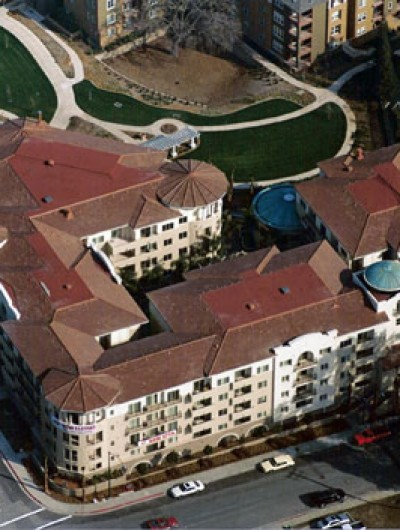 BELLA TORRE APARTMENTS, Walnut Creek - 51,000 sq ft: Modified Bitumen, Soprema, Tile: Monier, Copper: Revere