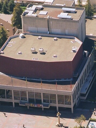 ZELLERBACH HALL, University of California, Berkeley - 40,000 sq ft: Built Up Roofing, Johns Manville & Koppers