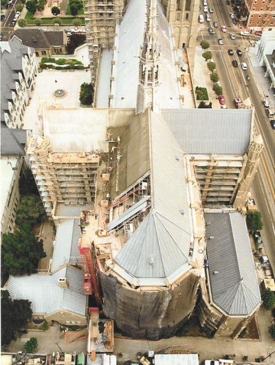 GRACE CATHEDRAL, San Francisco - 30,000 sq ft: Replacement of concrete deck before new roof system