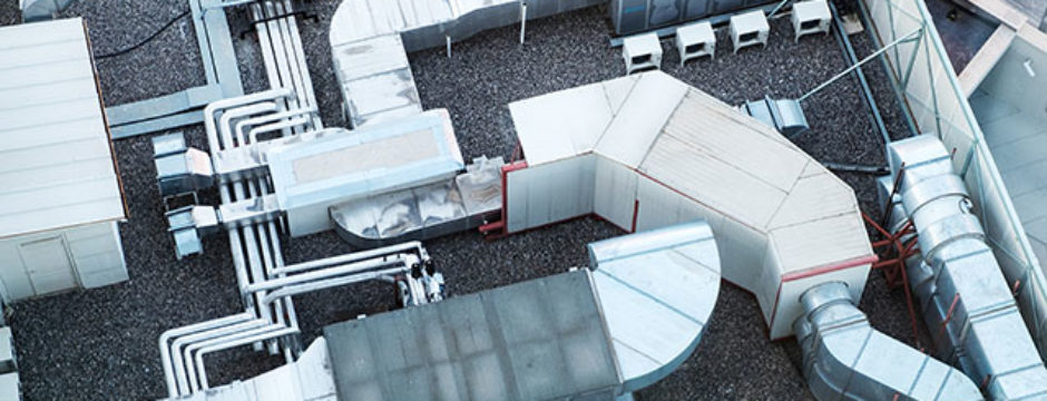 Protect HVAC unit on commercial roof to avoid damage